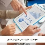 صورتهای مالی شرکتهای غیر ایرانی چگونه است ؟ دانلود نمونه یک صورت مالی لاتین در اکسل