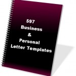 ۵۹۷ business and personal Letters